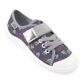 Befado obuwie dziecięce 251X138 różowe szare wielokolorowe 2