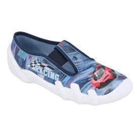 Befado obuwie dziecięce 290Y208 niebieskie wielokolorowe 1
