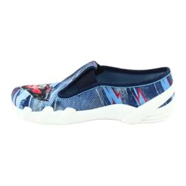 Befado obuwie dziecięce 290Y208 niebieskie wielokolorowe 2