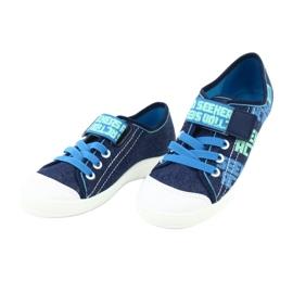 Befado obuwie dziecięce 251Y139 granatowe niebieskie wielokolorowe 4