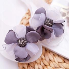 Lu Boo | Gumowe Balerinki Meliski Kwiatki Białe Candela bezbarwne 3