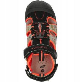 Sandały 4F Jr HJL20 JSAM002 90S czarne pomarańczowe wielokolorowe 1