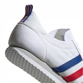 Buty adidas Vs Jog M FX0094 białe czerwone niebieskie 1