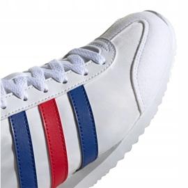 Buty adidas Vs Jog M FX0094 białe czerwone niebieskie 3