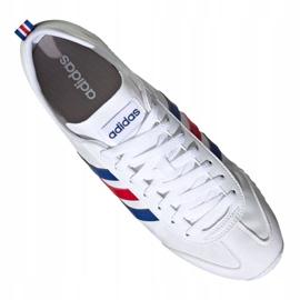 Buty adidas Vs Jog M FX0094 białe czerwone niebieskie 4