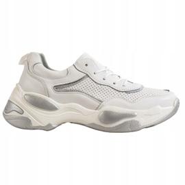 Goodin Skórzane Sneakersy białe wielokolorowe 5