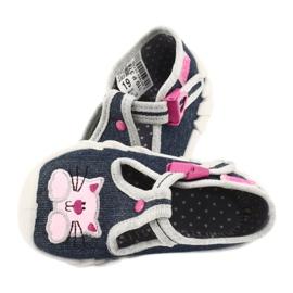 Befado obuwie dziecięce 110P378 granatowe różowe szare 5