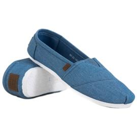 Błękitne Trampki Slip On niebieskie 3
