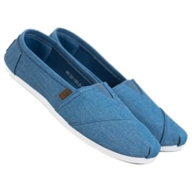 Błękitne Trampki Slip On niebieskie 1