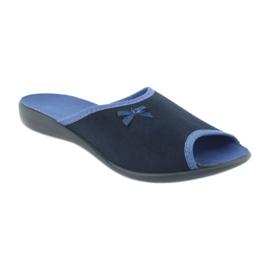 Befado obuwie damskie pu 254D083 granatowe niebieskie 1