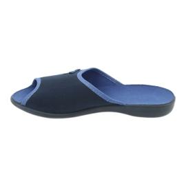 Befado obuwie damskie pu 254D083 granatowe niebieskie 2