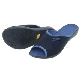 Befado obuwie damskie pu 254D083 granatowe niebieskie 4