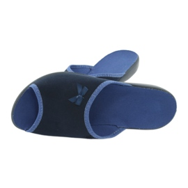 Befado obuwie damskie pu 254D083 granatowe niebieskie 5
