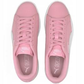 Buty Puma Smash v2 L Jr 365170 24 czarne różowe 1