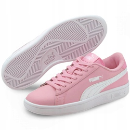 Buty Puma Smash v2 L Jr 365170 24 czarne różowe 3