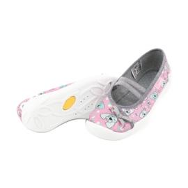 Befado obuwie dziecięce 116X282 różowe szare 4