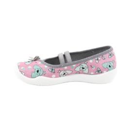 Befado obuwie dziecięce 116X282 różowe szare 2