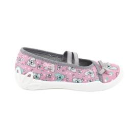 Befado obuwie dziecięce 116X282 różowe szare 1