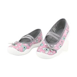 Befado obuwie dziecięce 116X282 różowe szare 3