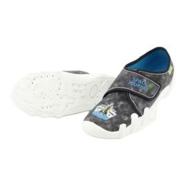 Befado obuwie dziecięce 273Y238 niebieskie szare 4