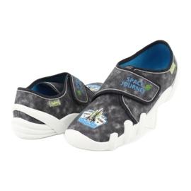 Befado obuwie dziecięce 273Y238 niebieskie szare 3
