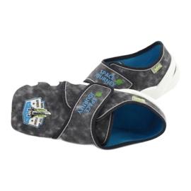 Befado obuwie dziecięce 273Y238 niebieskie szare 5