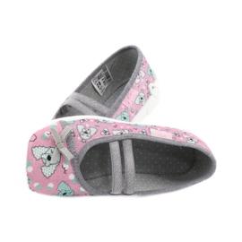 Befado obuwie dziecięce 116X282 różowe szare 5
