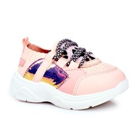 FRROCK Dziecięce Sportowe Buty Różowe Velma 8