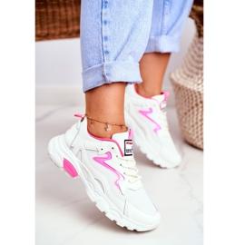 Sportowe Damskie Białe Buty Lu Boo Róż Dazzle Me różowe 2