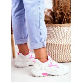 Sportowe Damskie Białe Buty Lu Boo Róż Dazzle Me różowe 1