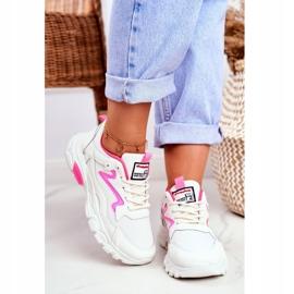 Sportowe Damskie Białe Buty Lu Boo Róż Dazzle Me różowe 4