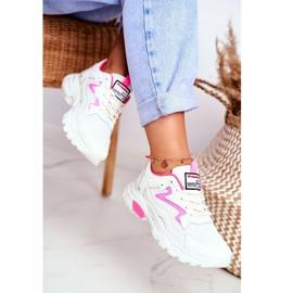 Sportowe Damskie Białe Buty Lu Boo Róż Dazzle Me różowe 3
