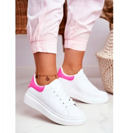 Sportowe Damskie Buty Lu Boo Białe Fuksja Zapiętek Matilda różowe 1