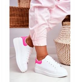 Sportowe Damskie Buty Lu Boo Białe Fuksja Zapiętek Matilda różowe 2