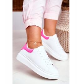 Sportowe Damskie Buty Lu Boo Białe Fuksja Zapiętek Matilda różowe 3