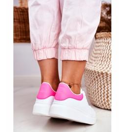 Sportowe Damskie Buty Lu Boo Białe Fuksja Zapiętek Matilda różowe 5