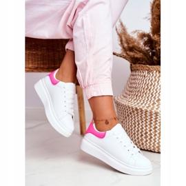 Sportowe Damskie Buty Lu Boo Białe Fuksja Zapiętek Matilda różowe 4