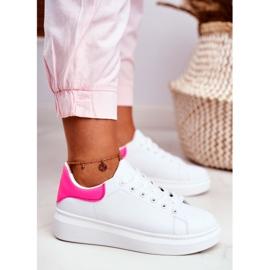Sportowe Damskie Buty Lu Boo Białe Fuksja Zapiętek Matilda różowe 6