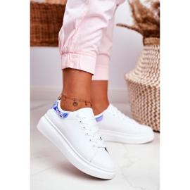 Sportowe Damskie Buty Lu Boo Białe Metaliczne Niebieskie Matilda 1