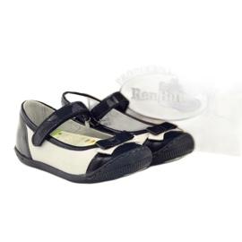 Balerinki buty dziecięce Ren But 1405 granatowe 4