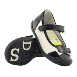 Balerinki buty dziecięce Ren But 1405 granatowe białe wielokolorowe 3