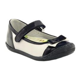 Balerinki buty dziecięce Ren But 1405 granatowe białe wielokolorowe 1