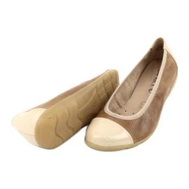 Caprice buty damskie balerinki 22152 skóra brązowe 4