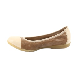 Caprice buty damskie balerinki 22152 skóra brązowe 2
