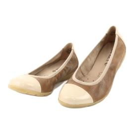Caprice buty damskie balerinki 22152 skóra beżowy 2