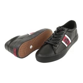 Trampki buty sportowe Big star GG174111 czarne białe czerwone 3