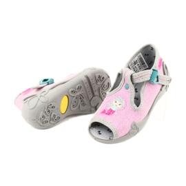 Befado obuwie dziecięce 213P116 różowe szare 3