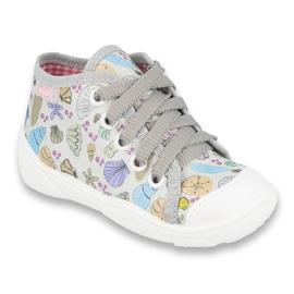 Befado obuwie dziecięce 218P061 szare wielokolorowe 1