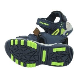 Sandałki wkładka piankowa KangaRoos 18337 granatowe zielone 5