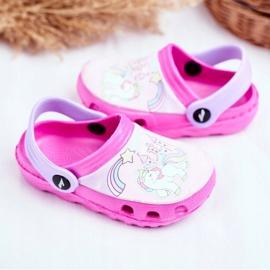 Klapki Dziecięce Piankowe Kroksy Różowe Kucyki Pony 3